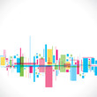 color abstract city stock vector