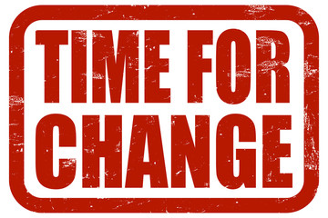 Grunge Stempel rot TIME FOR CHANGE