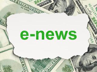 News concept: E-news