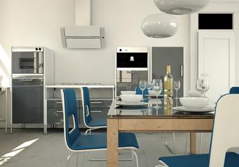 moderne Küche grau
