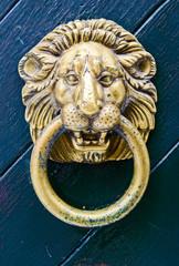 Old lion head door-knocker