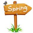 Spring wooden arrow board