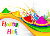 vector illustration of Holi celebration background