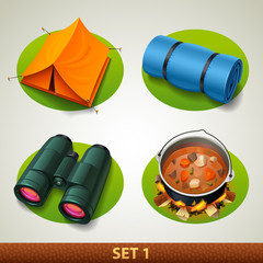 vector tourism icon-set 1