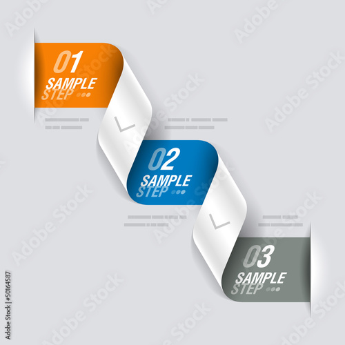 Consecutive steps - design template
