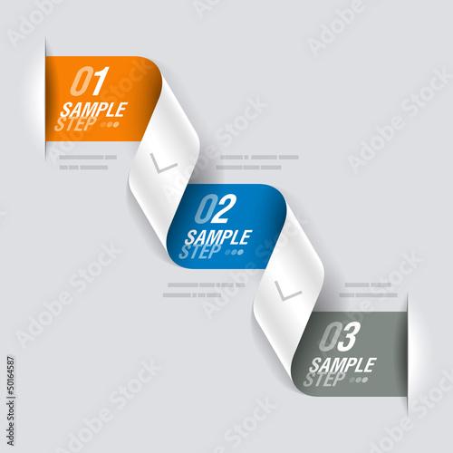 Consecutive steps - design template