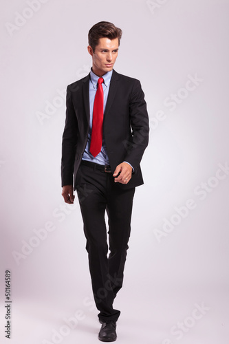 business man walking forward
