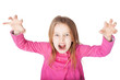 angry little girl growls
