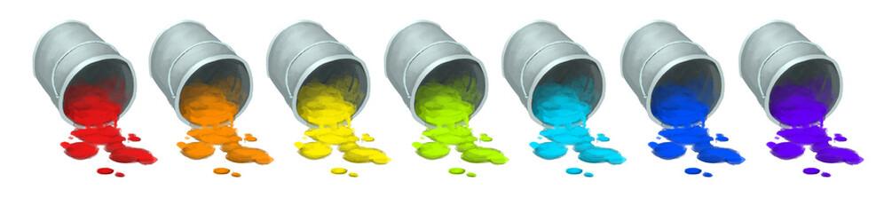 pote pintura multicolor