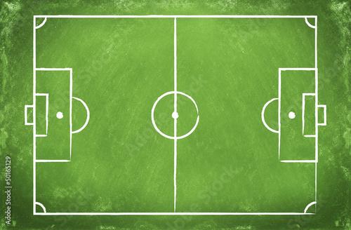 Football field  on a board
