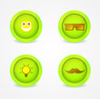 Set of glossy internet icons