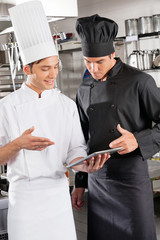 Chefs With Digital Tablet