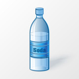 Bottle of soda.