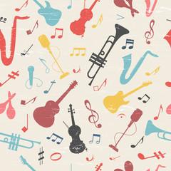 Colorful music seamless pattern.