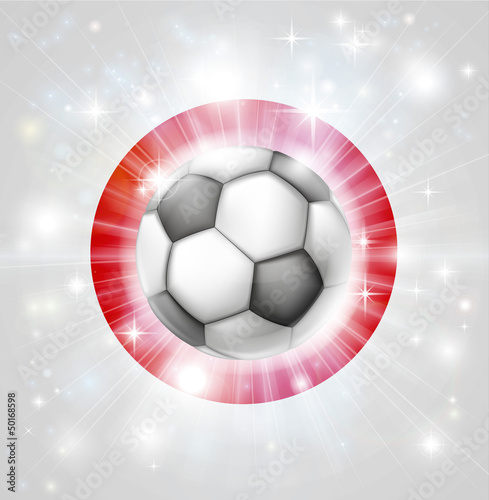 Japan soccer flag