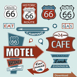 Route 66 Signs. Symbol and Sticker