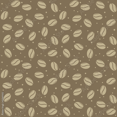 seamless coffee seed texture  vector illustration