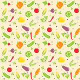 seamless vegetable texture vector illustration
