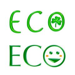 エコのイラスト、ロゴ