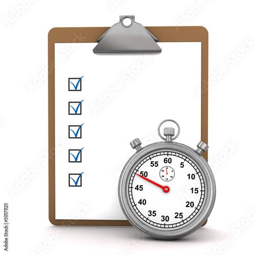 Checklist Stopwatch