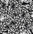 Seamless flowers background-wallpaper