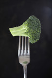 Broccoli floret on fork
