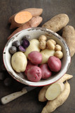 Various potatoes in bowl