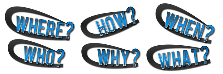 Questions Banner Blue