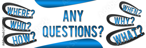 Any Questions Banner - Blue