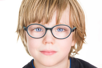 Beautiful boy with glasses