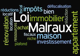 Nuage de Mots : Loi Malraux