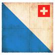 Grunge-Flagge Zürich (Schweiz)