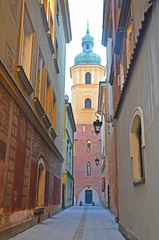 Warsaw Old Town, old building, Poland