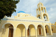 Yellow orthodox Greek church