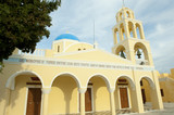 Yellow orthodox Greek church