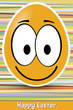 funny easter egg smiley