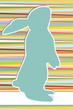 easter background in 70s style