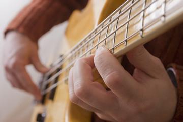 Chilean man playing guitar