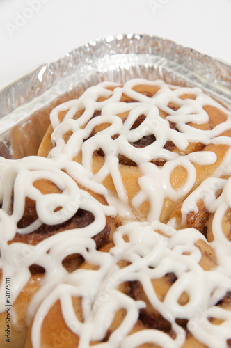 Close up of cinnamon rolls