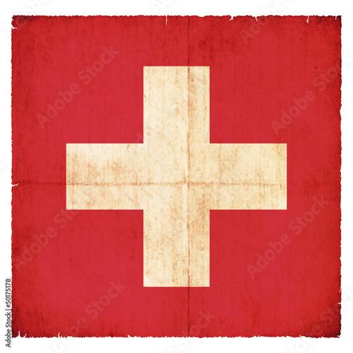 Grunge-Flagge Schweiz