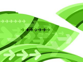 green graphic arrows