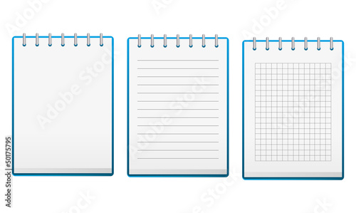 Set of notebooks isolated on white