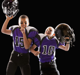 Cheering football players
