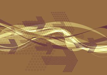 graphic arrows brown