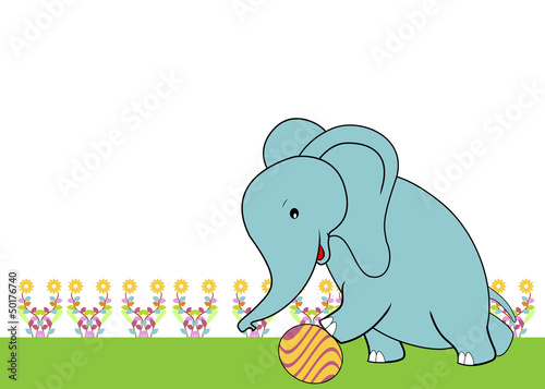 cute elephant with soft color