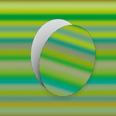 Easter egg / Cut out egg from striped green paper