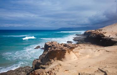 Eroded  west coast of Fuerteventura