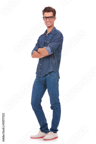 casual man with hands folded