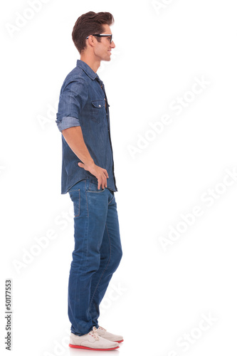 casual man with hands on hips