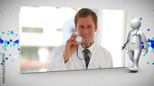 Montage of happy medical staff